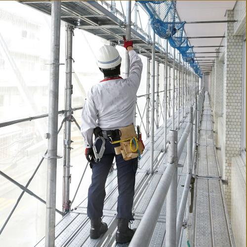 現在の日本人の平均身長に合わせた「安全」で「作業しやすい」足場 Iqシステム