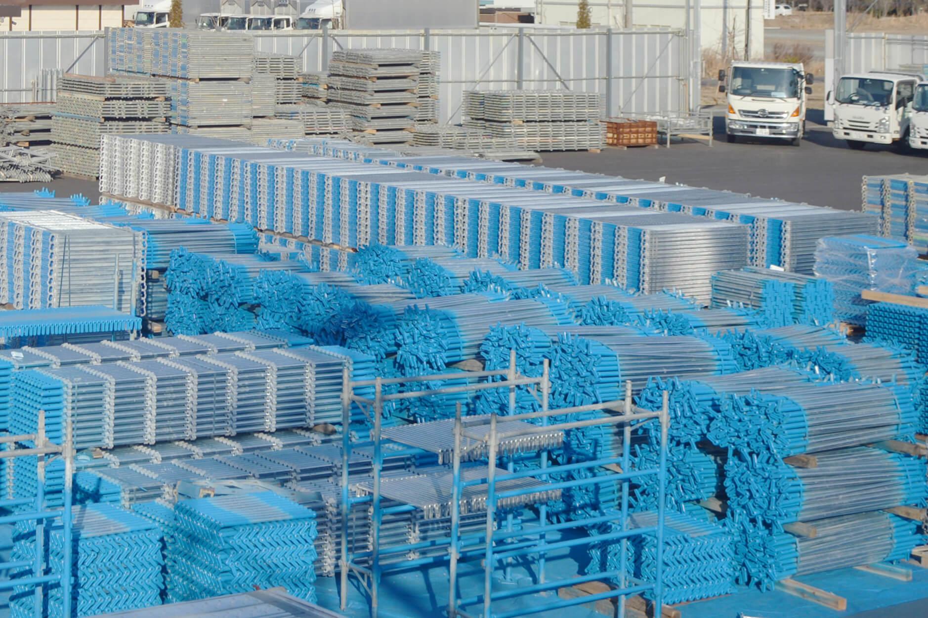 福島を中心とした仮設足場工事を行う業者様へ足場資材リースを行っております