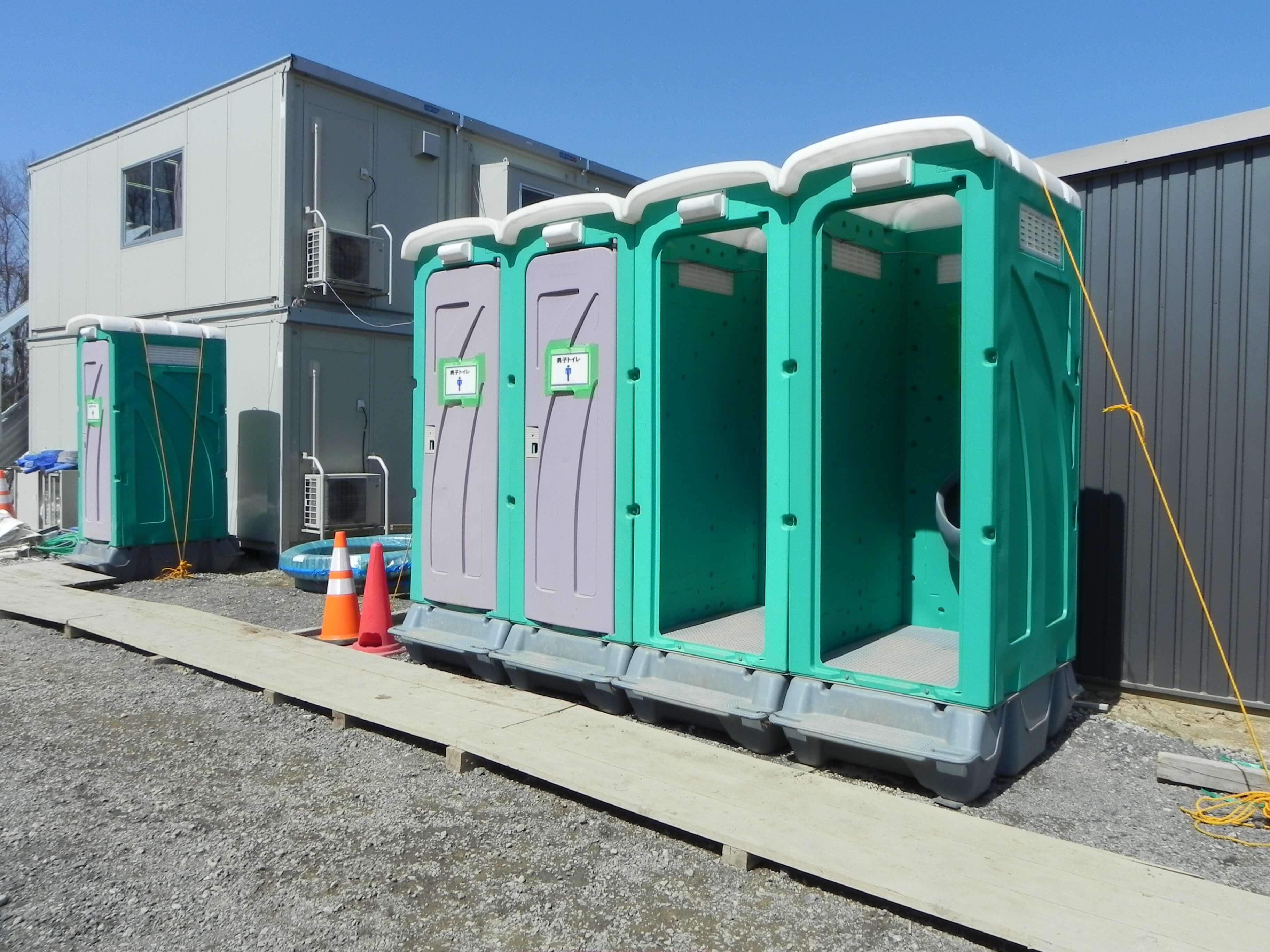 福島の足場施工会社セーフティーステップの事業 仮設トイレリース