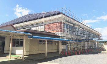 福島県郡山市 中学校体育館屋根塗装工事